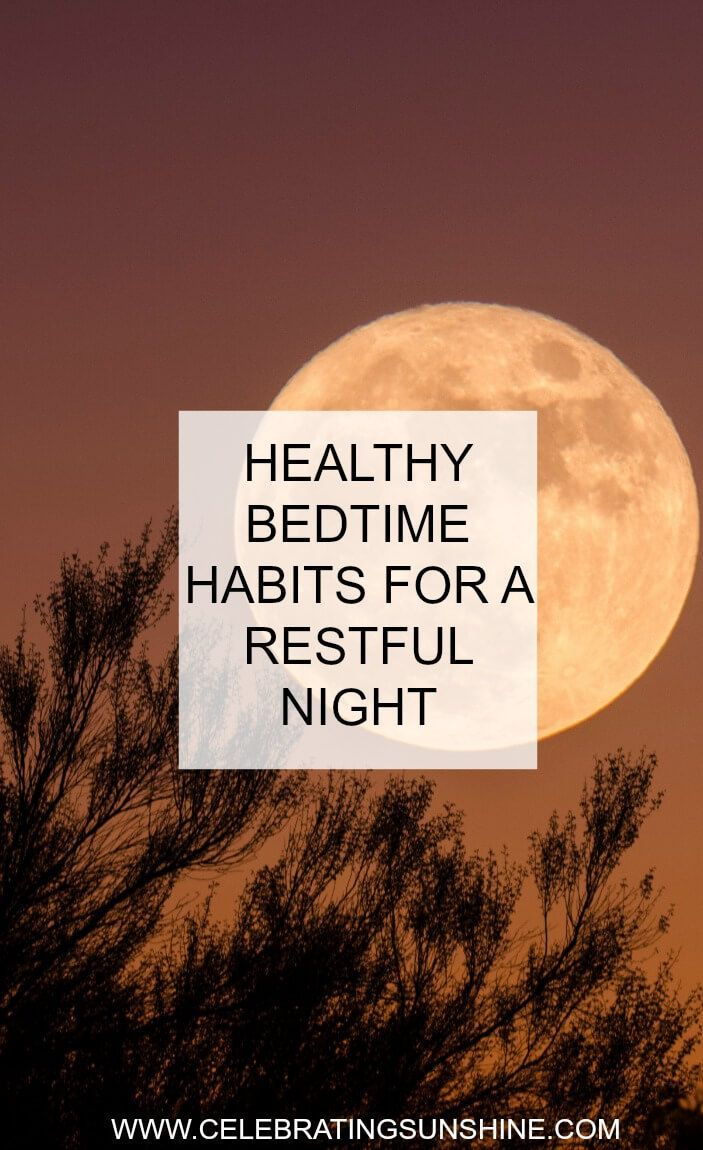 Here are some healthy bedtime habits to help you get a better sleep, have a restful night, and wake up easily in the morning.
