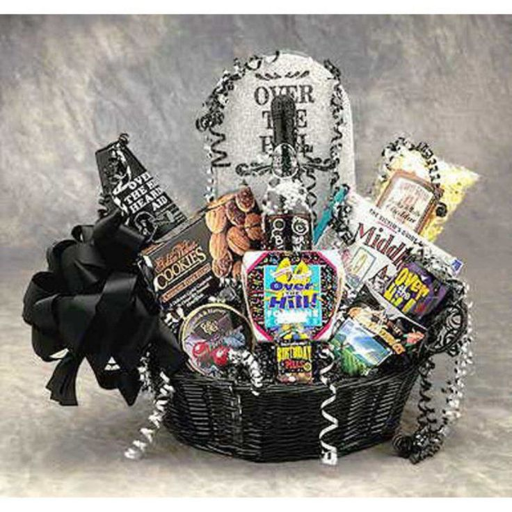 Over the Hill Birthday Basket - 8602