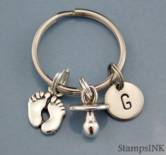 New dad Gift Keychain New mom Gift Keychain Custom by StampsINK