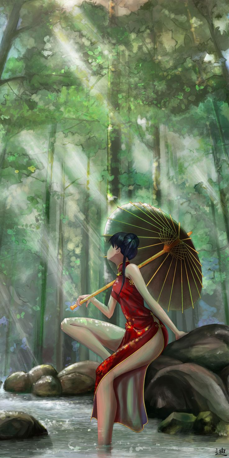 Macross: Minmay  (forest) by 美树本明美