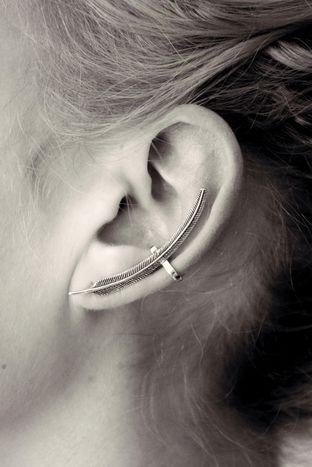 Ear cuff BLUEBIRD designed by TAJ