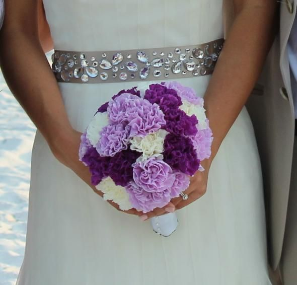 Maybe this bouquet for the girls, but all the dark purple