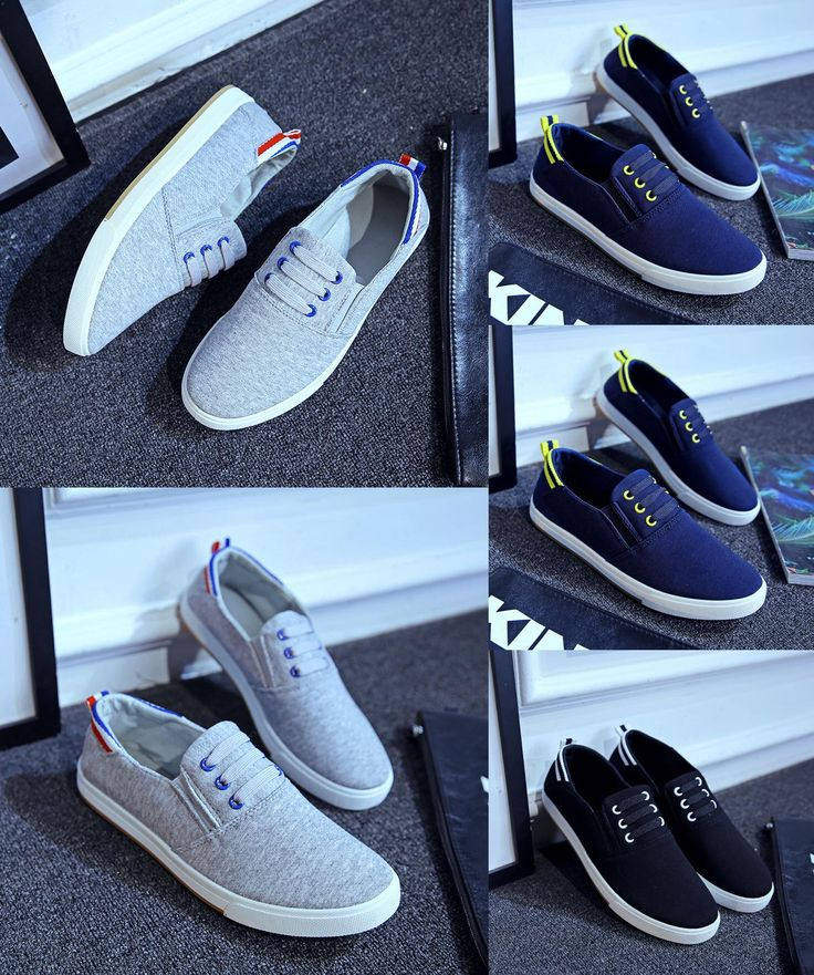 [Visit to Buy] New  2017 Breathable Canvas Mens Shoes Lace-Up Solid Flats sneakers Outdoor Canvas Shoes For Men #Advertisement