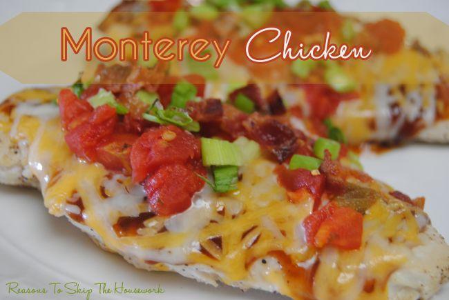 Monterey chicken for George Foreman Grill