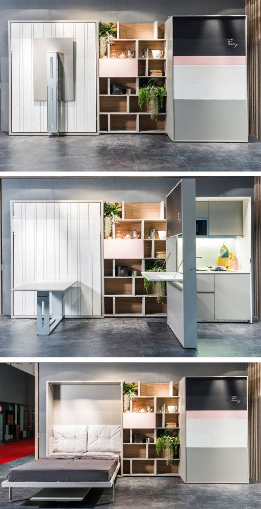 Multi Functional Transformable Furnishing By Clei