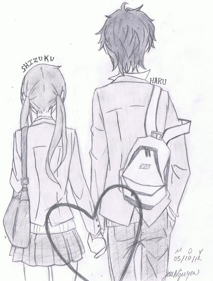 My Little Monster- I thought this picture was so kawaii!!! Haru X Shizuku