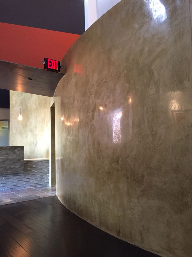 Variance plaster . Brio finish Maestas and Ward commercial real Estate office