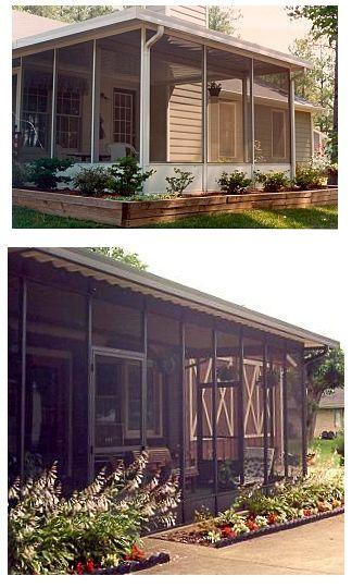 Enclosed Patio Screenroom Kit - DIY Enclosed Patio Kits | Mobile Home Advantage