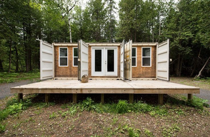355 Sq. Ft. Off Grid Shipping Container Cabin For Sale