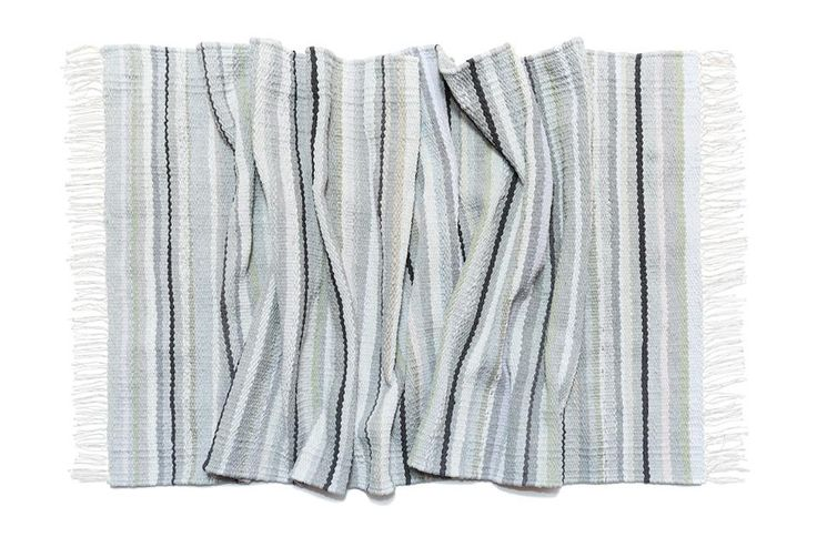 "Grey also can be interesting. Woven carpet ""The fog"" from cut clothes which was made on loom. Nature inspires #babynakrasunia #woven #wovencarpet #rugs #carpet #natureencourages #colors #stripes #stylishcarpet #recycle #ecofriendlyfashion #бабинакрасуня #тканадоріжка #ткацтво #килим #доріжка #природанадихає #кольори #смужка #стильнийкилим"