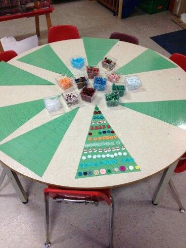 Xmas maths table