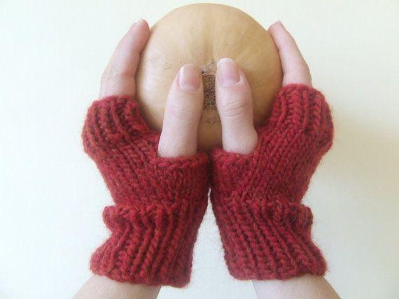 Fingerless Mittens  shortie wristwarmers  small by TheYarnOwlsNest, £9.50