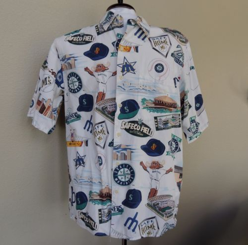 Reyn Spooner Seattle Mariners Mens Hawaiian Shirt M 1997 ...
