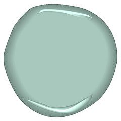 benjamin moore antique glass. this is going to be my guest bathroom color with white and brown accents.....