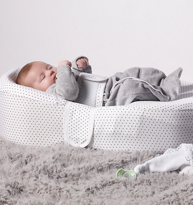 Buy the Cocoonababy Baby Sleep Aid with Fitted Sheet in Grey Stars by COCOONABABY from Me and Buddy