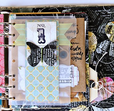 Love all the colors, textures and fun stuff going on in here ! great blog for mini books