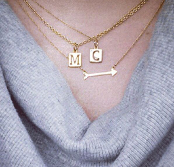 Stella and dot layered charm necklaces