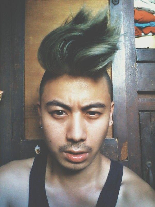 Asian undercut hairstyle