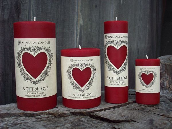 Give Your Sweetheart A Gift Of Love Our 100 Beeswax Red Pillar Candles