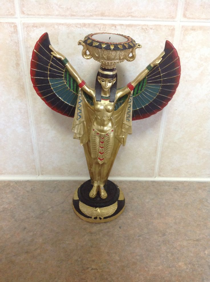 Egyptian candle holder home decor tea light