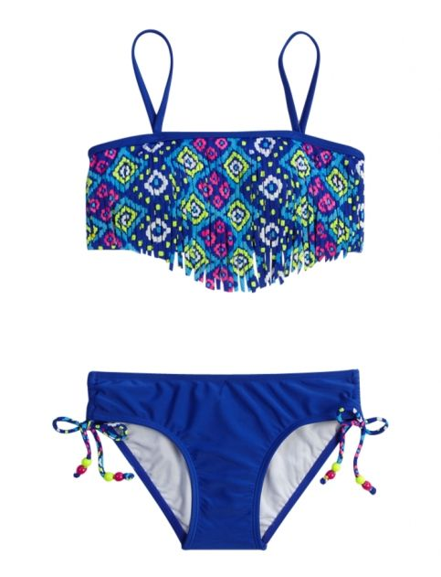 Aztec Fringe Bikini Swimsuit | Girls Hot Shops {parent_category} | Shop Justice