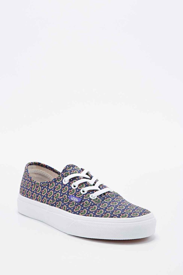 Vans Authentic Floral Trainers in Navy