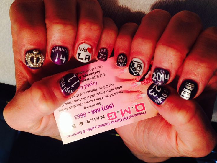 16 best Los Angeles Kings Nail designs images on Pinterest | Los ...