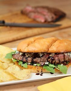 Balsamic and Blue Cheese Steak Sandwich
