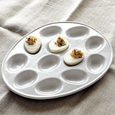 ceramic deviled egg tray