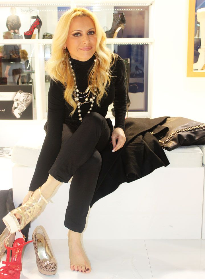 Celebrities!!! Gisella Donadoni with our shoes Michela Rigucci Luxury!