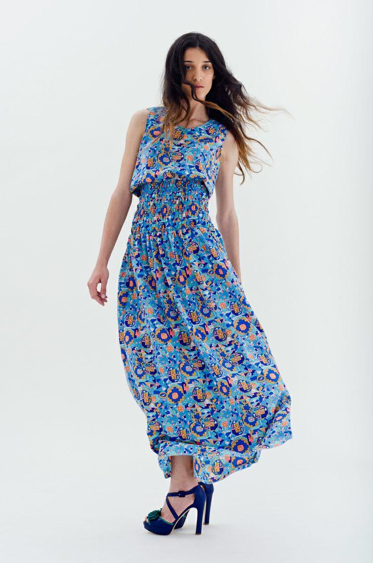 Floral Maxi Dress | Antonella Boutique  #SilvianHeach #printed #multiColor #dress #maxi #TwinSet #shoes #fashion #AntonellaBoutique