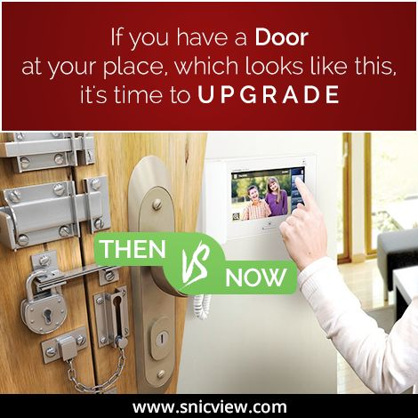 If you have a door at your place which looks like this, it's time to upgrade. Be safe with surveillance products from Snicview: http://www.snicview.com/