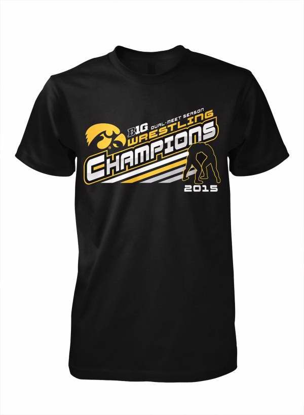 2015 Big Ten Wrestling Dual Meet Champions T-Shirt