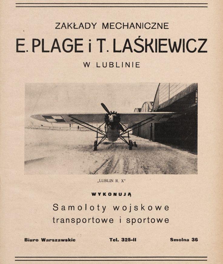Reklama: Zakłady Mechaniczne Plage i Laśkiewicz w Lublinie (1930 r.)
