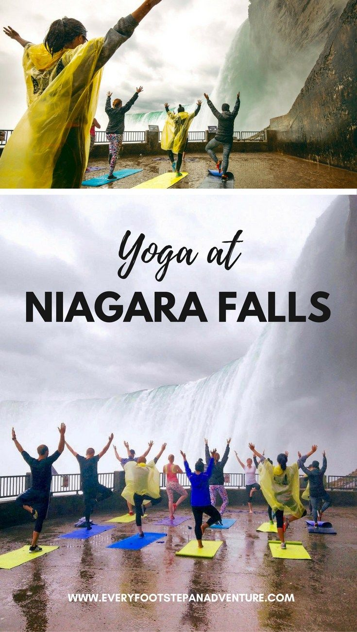 """I was overcome by emotions I couldn't name. Time and time again, I am completely amazed by how truly magnificent nature can be."" Definitely an experience of a lifetime, check out more photos of my experience practicing yoga at the base of Niagara Falls!"