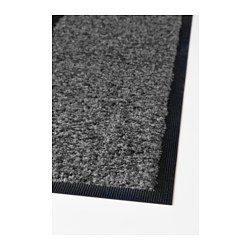 Easy to keep clean - just vacuum, shake or rinse. Stays firmly in place since it has rubber on the underside. The backing is made of an oil- and weather resistant material and will last for many years. Ideal for high traffic areas like hallways since the rug is made of nylon, which is a hardwearing material.