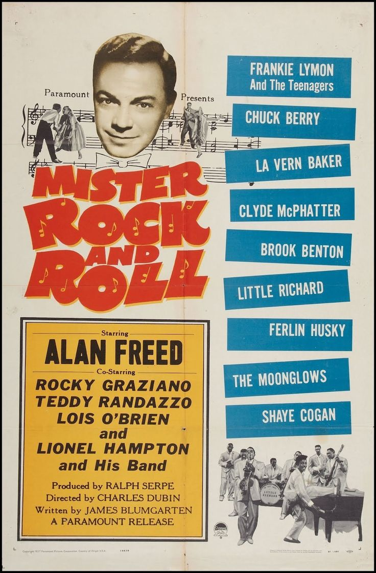 Mister Rock and Roll is a 1957 American musical film directed by Charles S. Dubin and written by James Blumgarten. The film stars Alan Freed, Teddy Randazzo, Lois O'Brien, Rocky Graziano, Jay Barney, Al Fisher and Lou Marks.