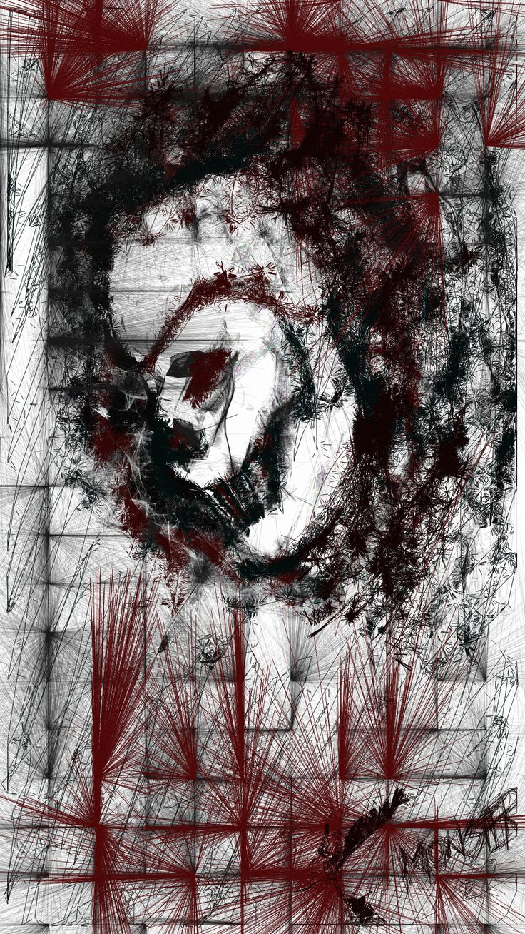 """Drawing by me using Sketch n Draw. It's called """"Monster"""". A skull.."""