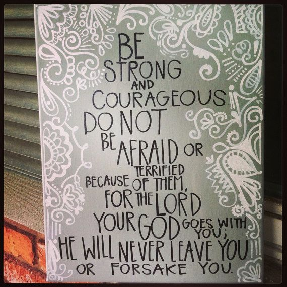 Deuteronomy 31:6 Bible Verse Canvas by b.krafty designs