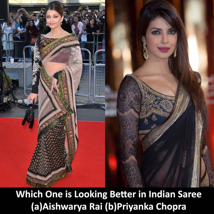 Which One is Looking Better in Indian Saree (a)Aishwarya Rai (b)Priyanka Chopra  Explore Designed Saree on @www.madeinmyindia.com Made with love in #India  #madeinmyindia #made #with #love #india #ethnic #wear #fashion #clothing #unique #handcrafted #suits #kurtis #lehanga #sarees #Bridal #partywear #embroided #wedding #navaratri #manymore #diwali #fashion #stunning #indowestern