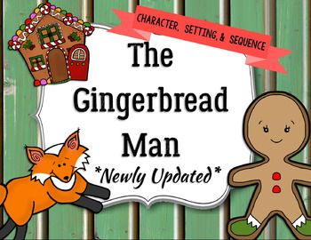 ***Updated 11/17/16***This gingerbread unit is perfect for teaching character, setting, and sequencing a story. This has been updated to include even more activities. Part 1 includes an activity in identifying characters, setting, and sequencing with the following books: The Gingerbread ManRetold by Louise MartinThe Gingerbread CowboyBy Janet SquiresThe Gingerbread BoyBy Richard EgielskiThe Gingerbread BearBy Robert DennisKeep Running, Gingerbread ManBy Steve SmallmanThe Gingerbread Man By…