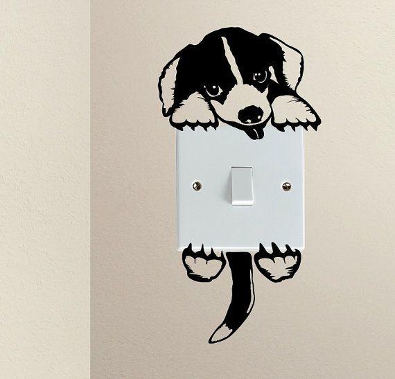Schattige hond Beagle Doggy Puppy Baby Pet door Stickersshopthree
