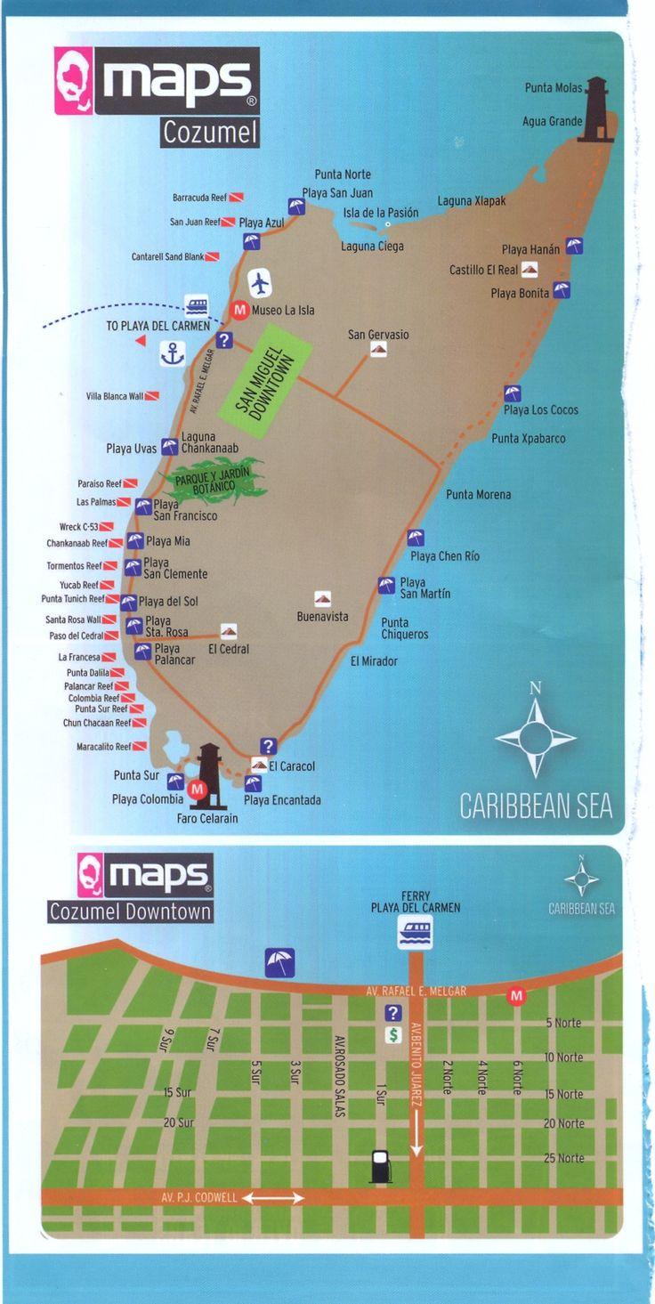 Mapa Cozumel  - México