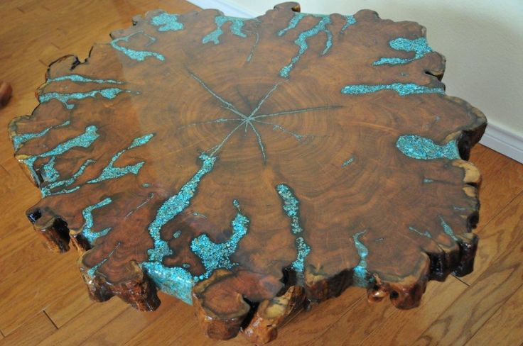 Wood Resin Coffee Table For Sale