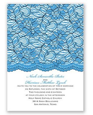 Embellished Lace Wedding Invitation by David's Bridal #somethingblue #blueweddings #weddinginvitation: Lace Weddings, Davids Bridal, Blueweddings Weddinginvitation, Secret Wedding, Alyssa Rae S Wedding, Dream Wedding, Somethingblue Blueweddings, Invite Ideas, Lace Wedding Invitations