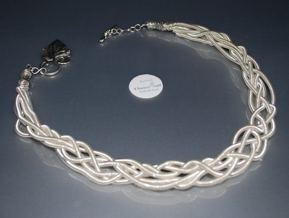 braided silver plated wire necklace by choice4all on Etsy
