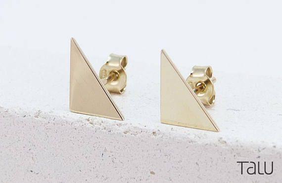 Triangle Gold Earrings Birthday Gift Geometric Earrings