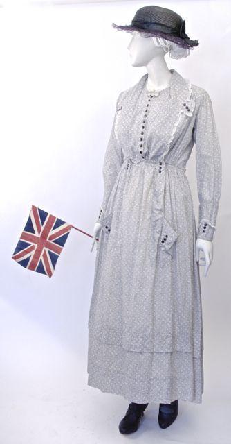FC0361 Dress, cotton print, unlabelled, c. 1916-1917