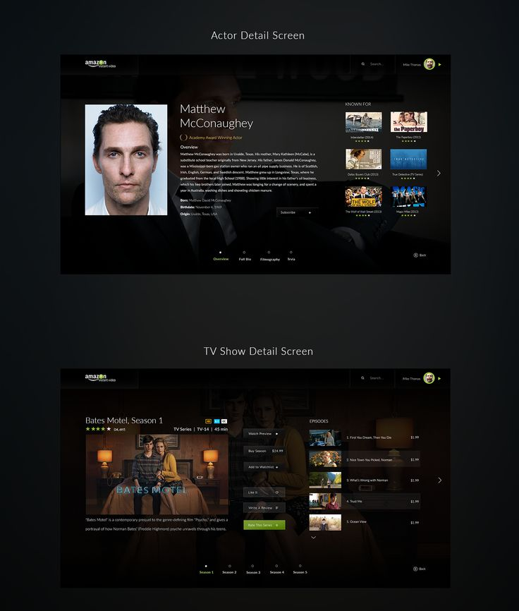 Amazon Instant Video Redesign Concept on Behance