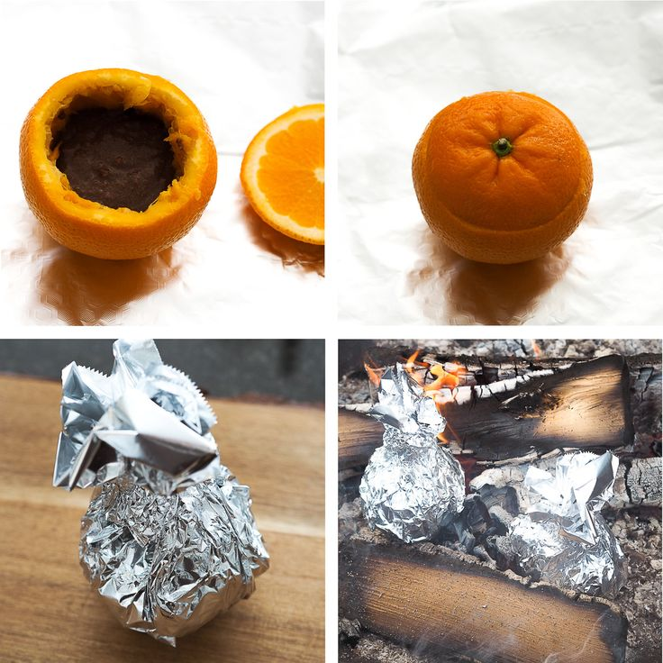 Lag sjokoladekake i appelsinskall